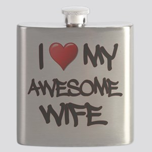 I Heart My Awesome Wife Flask