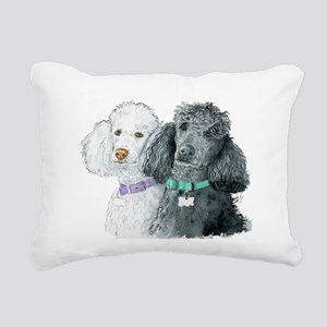 Two Poodles Rectangular Canvas Pillow