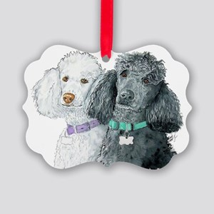Two Poodles Picture Ornament