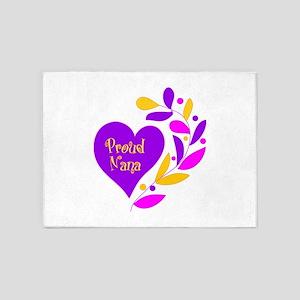Proud Nana Heart 5'x7'Area Rug