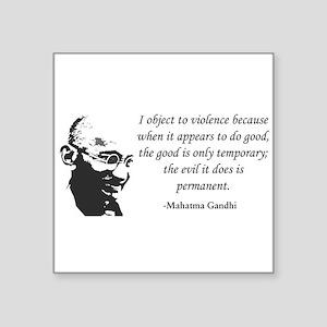 Gandhi Rectangle Sticker