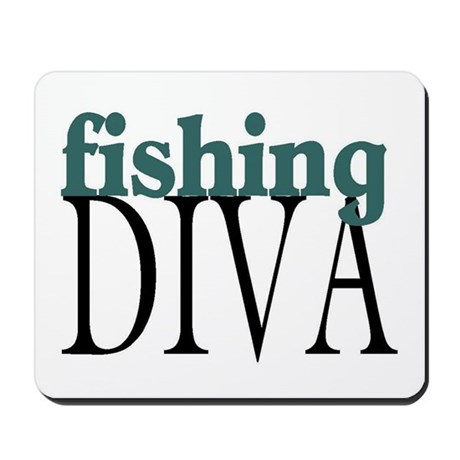 Fishing Diva Mousepad