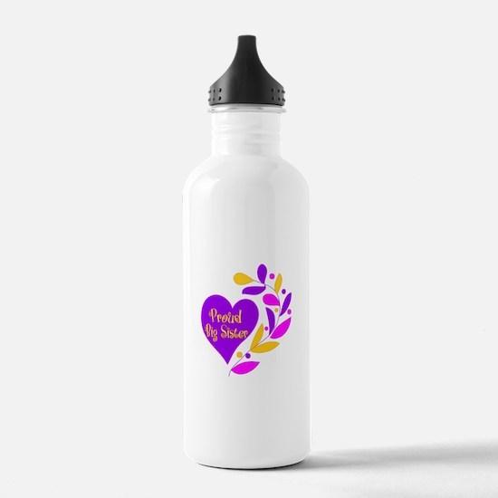 Proud Big Sister Heart Water Bottle