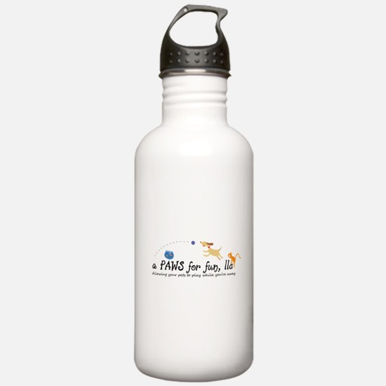a PAWS for fun, llc Water Bottle