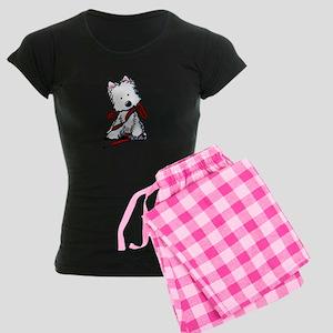 LET'S GO! Westie Women's Dark Pajamas