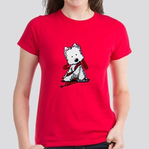 LET'S GO! Westie Women's Dark T-Shirt