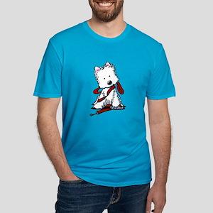 LET'S GO! Westie Men's Fitted T-Shirt (dark)