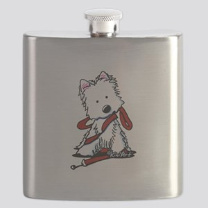 LET'S GO! Westie Flask