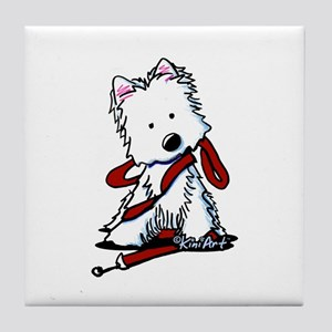 LET'S GO! Westie Tile Coaster