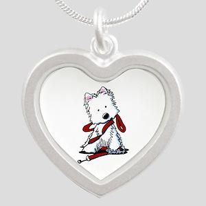 LET'S GO! Westie Silver Heart Necklace