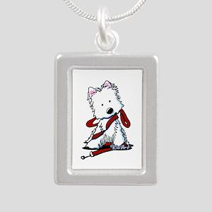 LET'S GO! Westie Silver Portrait Necklace