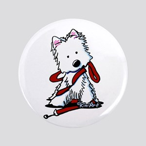 "LET'S GO! Westie 3.5"" Button"