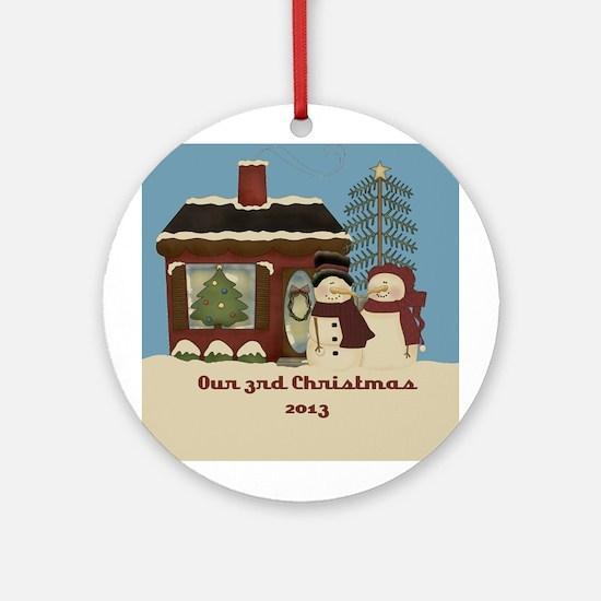 Cute Snowmen Our 3rd Christmas 2013 Ornament