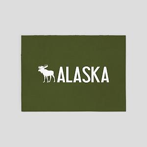 Alaska Moose 5'x7'Area Rug