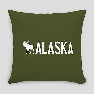 Alaska Moose Everyday Pillow