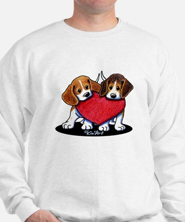 Beagle Heartfelt Duo Sweatshirt