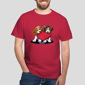 Beagle Heartfelt Duo Dark T-Shirt