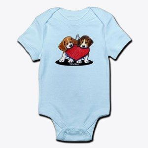 Beagle Heartfelt Duo Infant Bodysuit