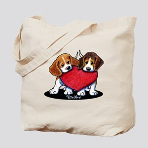 Beagle Heartfelt Duo Tote Bag