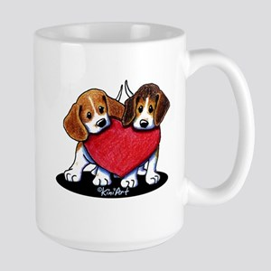 Beagle Heartfelt Duo Large Mug
