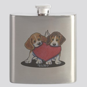 Beagle Heartfelt Duo Flask