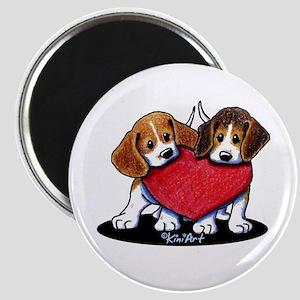 Beagle Heartfelt Duo Magnet