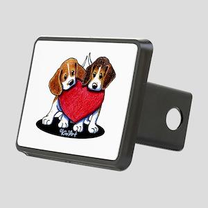 Beagle Heartfelt Duo Rectangular Hitch Cover