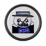 Gondolier Panda Large Wall Clock