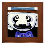 Gondolier Panda Framed Tile