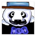Gondolier Panda Square Car Magnet 3