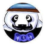 Gondolier Panda Round Car Magnet