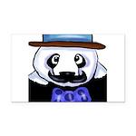 Gondolier Panda Rectangle Car Magnet