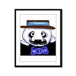 Gondolier Panda Framed Panel Print