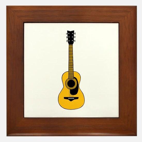 Acoustic Guitar Framed Tile