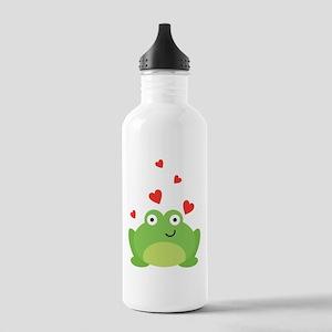 Frog in Love Water Bottle