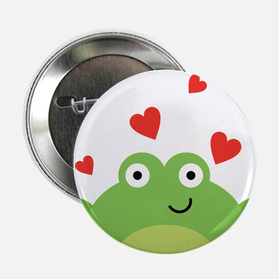 """Frog in Love 2.25"""" Button"""
