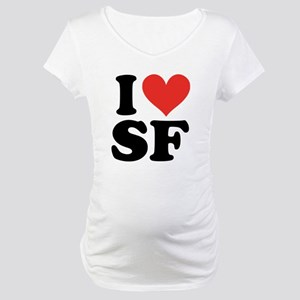 I Heart Personalized Maternity T-Shirt
