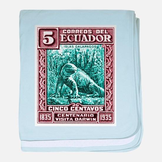 1936 Ecuador Galapagos Land Iguana Postage Stamp b
