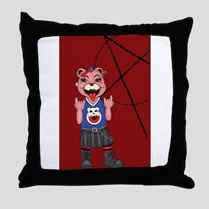 Punk Bear Throw Pillow