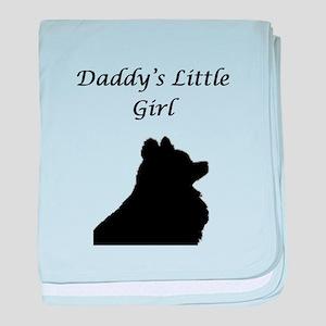 Daddys LIttle Girl Silhouette baby blanket