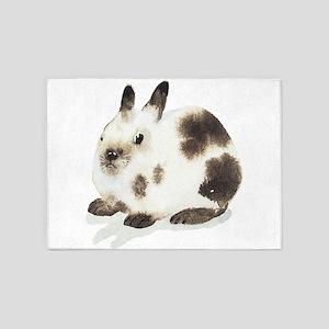 Bunny rabbit 5'x7'Area Rug