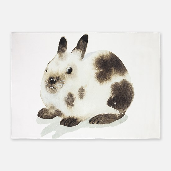 Bunny rabbit 5'x7'Area Rug