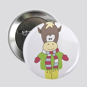 """Casual Friday Reindeer 2.25"""" Button"""