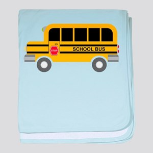 School Bus baby blanket