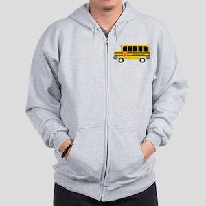 School Bus Zip Hoodie