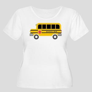 School Bus Plus Size T-Shirt