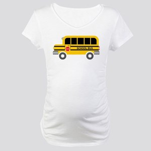 School Bus Maternity T-Shirt