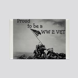 Proud to be a WW 2 Vet Rectangle Magnet (10 pack)