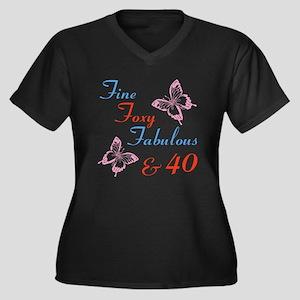 Fine 40 Plus Size T-Shirt