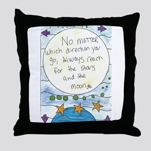 Reach For The Stars and The Moon Throw Pillow